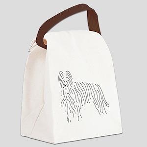 Briard Sketch Canvas Lunch Bag