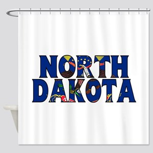 North Dakota Shower Curtain