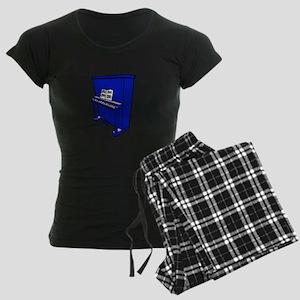 grand blue upright piano with music Pajamas