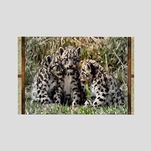 Now Leopard Cubs Rectangle Magnet