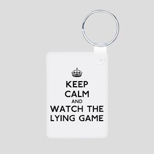 Keep Calm The Lying Game Aluminum Photo Keychain