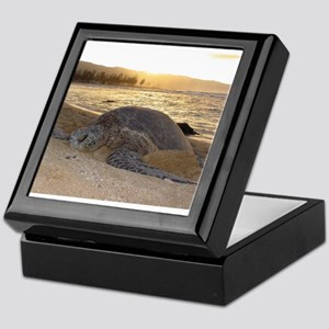 Honu at Sunset Keepsake Box