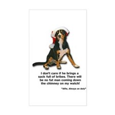 Not on My Watch! Entlebucher Christmas Sticker