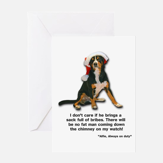 Not on My Watch! Entlebucher Christmas Card