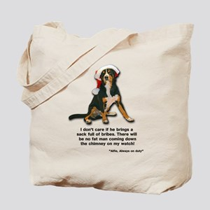 Not on My Watch! Entlebucher Christmas Tote Bag