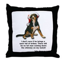 Not on My Watch! Entlebucher Christmas Throw Pillo