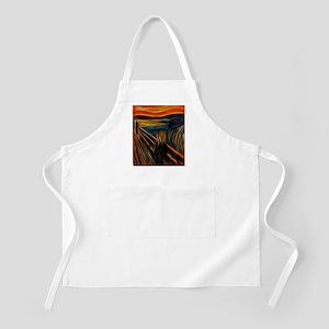The Scream Fractal Painting Edvard Munch Apron