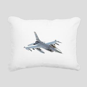 F-16 Falcon Rectangular Canvas Pillow
