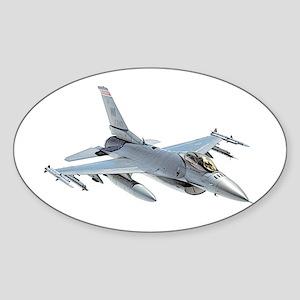 F-16 Falcon Sticker (Oval)