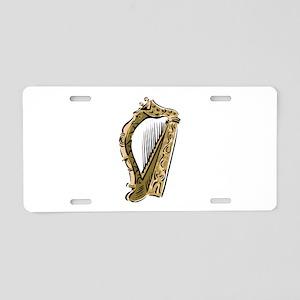 ornate harp image musical instrument Aluminum Lice