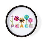 014Peace2VT Wall Clock