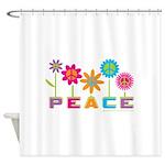014Peace2VT Shower Curtain