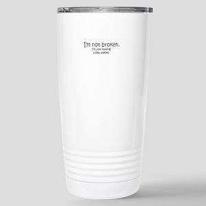 Not Broken - Dark Writing Travel Mug