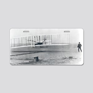 Wilber and Orville Wright Aluminum License Plate