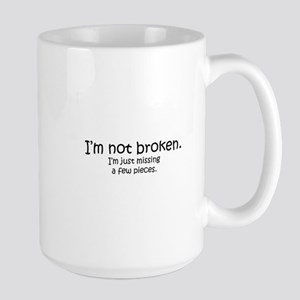 Not Broken - Dark Writing Mugs