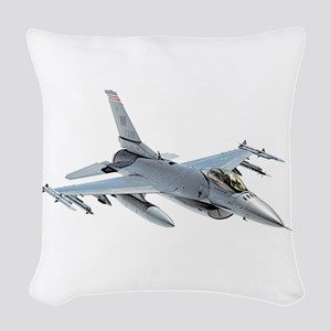 F-16 Fighting Falcon Woven Throw Pillow