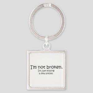 Not Broken - Dark Writing Keychains