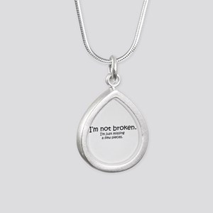 Not Broken - Dark Writing Necklaces