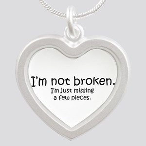 Not Broken - Dark Writing Necklaces