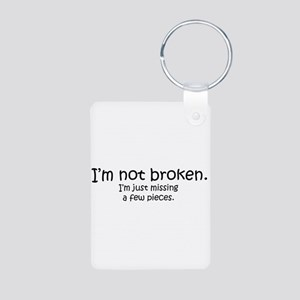 Not Broken - Dark Writing Keychains