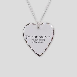 Not Broken - Dark Writing Necklace
