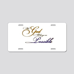 with God Aluminum License Plate