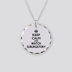Keep Calm Watch Suburgatory Necklace Circle Charm