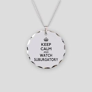 Keep Calm Watch Suburgatory Necklace Circle Charm