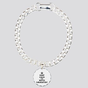 Keep Calm Watch Suburgatory Charm Bracelet, One Ch