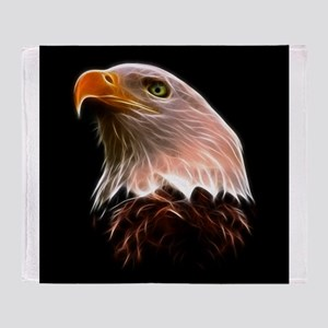 American Bald Eagle Head Throw Blanket