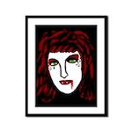 Dark Vampire Framed Panel Print