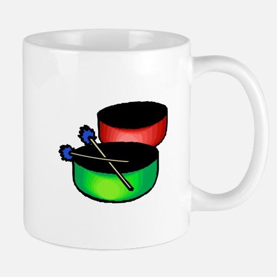 steel pan drums red green Mugs