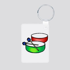 steel pan drums red green c Keychains