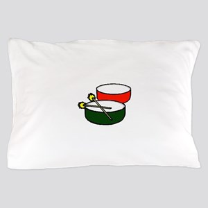 steel pan drums red green y Pillow Case