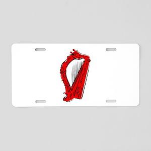 ornate harp red musical instrument Aluminum Licens