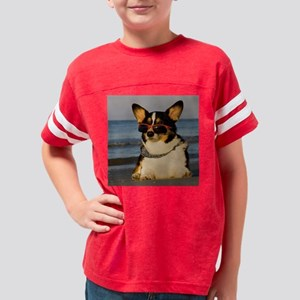 Cool Dog at the Beach Youth Football Shirt