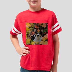 Cute Corgi in Fall Colors Youth Football Shirt