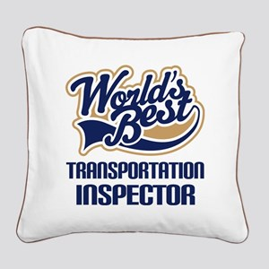Transportation Inspector Square Canvas Pillow