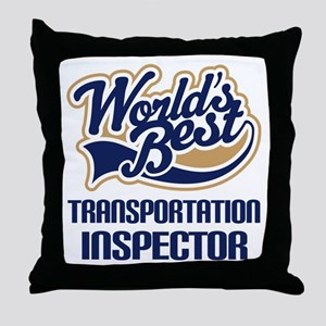Transportation Inspector Throw Pillow