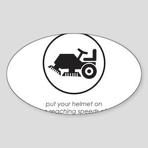 Put Your Helmet On Rectangle Sticker