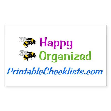 Bee Happy Rectangle Sticker