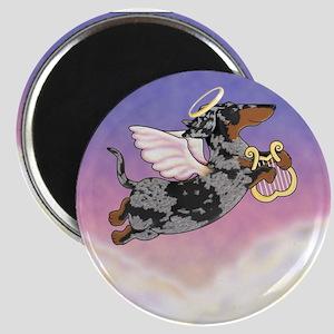 Silver Dapple Dachshund Angel Magnet