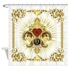 Monogram Q Shower Curtain