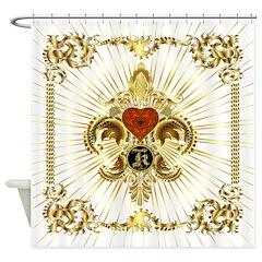 Monogram K Shower Curtain