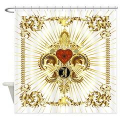 Monogram J Shower Curtain