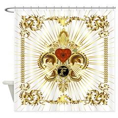 Monogram F Shower Curtain