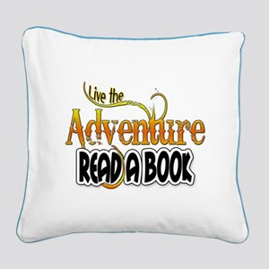 Reading Adventure Square Canvas Pillow