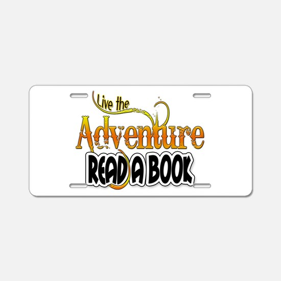 Reading Adventure Aluminum License Plate