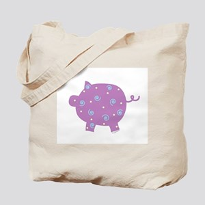 Swirly Pig Tote Bag