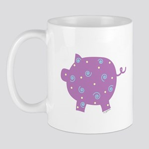 Swirly Pig Mug